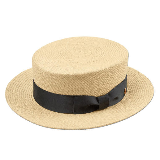 Mayser Boater Wear the original boater by Mayser: Made of genuine Panama straw, plaited by hand in Ecuador.