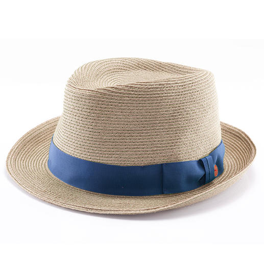 Mayser Hemp Trilby Trendy trilby style, made of durable hemp and cotton fibres sewn together. By Mayser, established 1800.