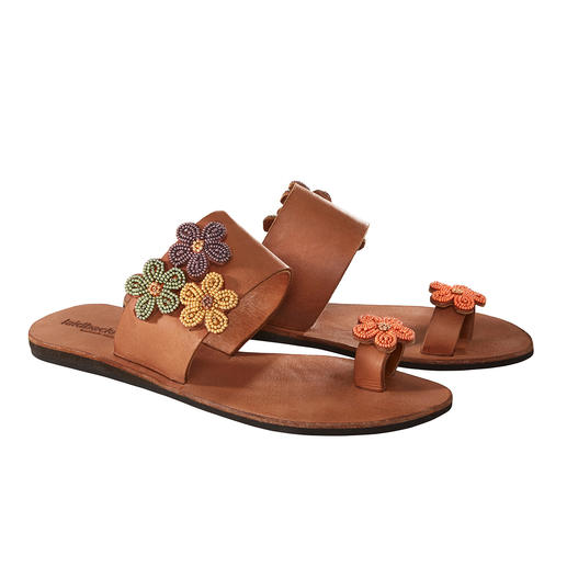 laidbacklondon Bead Flats Traditional African craftsmanship: The shoe trend of the summer. Handmade bead sandals by laidbacklondon.