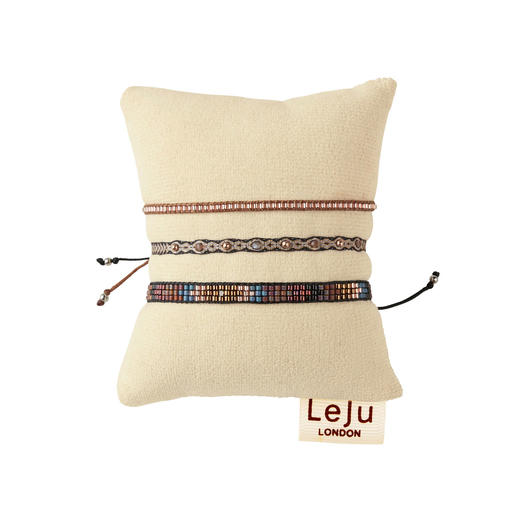 LeJu London Ethnic Bracelets, Set of 3 Trendy ethnic bracelets are rarely so authentic (or so elegant). Designed by trend label LeJu London.