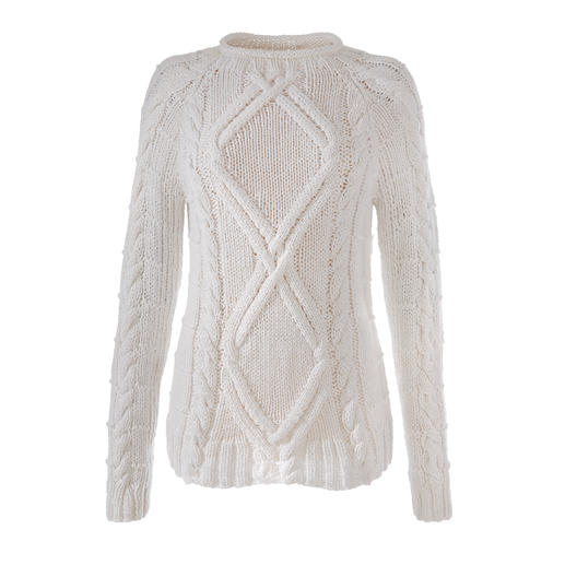 Eribé Hand-Knitted Summer Pullover - Perfect for the summer – and yet a rare find: The hand-knitted Aran pullover. By Eribé.