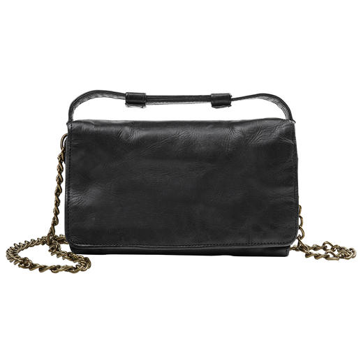 Desiderius 2-in-1 Mini Clutch Vintage handbag by day. Trendy casual cross-body bag by night. By German bag specialist Desiderius.