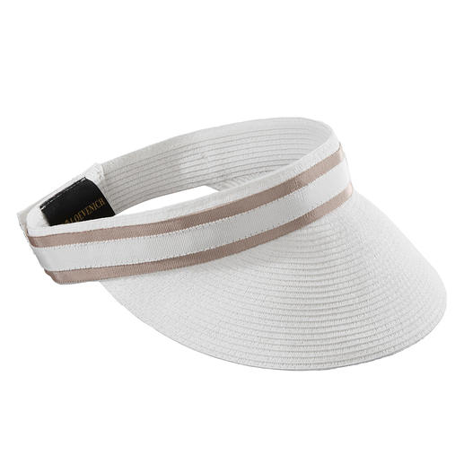 Loevenich Paper Straw Braid Visor As airy as straw, but much more flexible: Sun protection made of fine paper straw. By Loevenich,