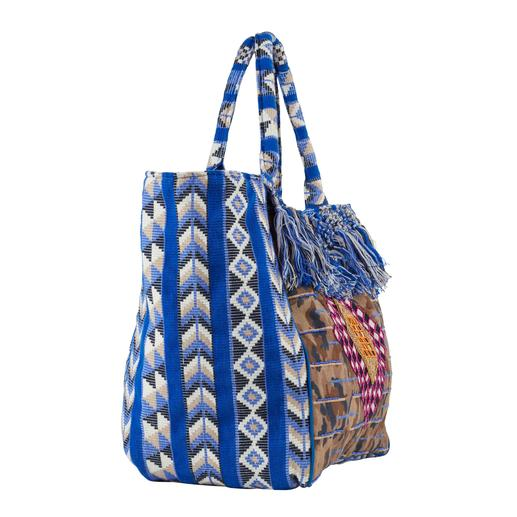 Boho Summer Bag Beach bag, shopping bag and statement bag. Multiple trends combined in one bag. Boho style. Square shape.
