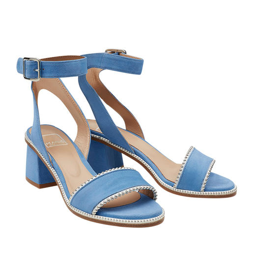 MA&LÒ Ankle Strap Sandals Fashionable ankle strap sandals with studs: Comfortable heel height, very refined and at an affordable price.