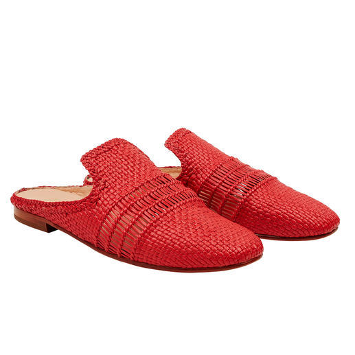 Much more extraordinary than so many other mules: Woven leather mules by Allan K. Much more extraordinary than so many other mules: Woven leather mules by Allan K.