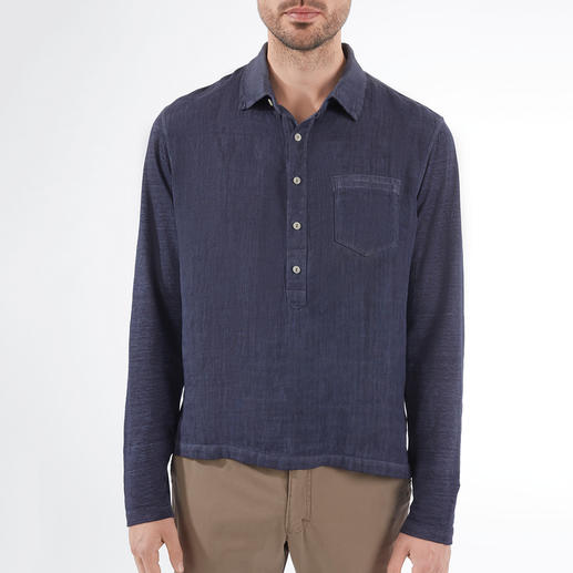 Comfort Linen Shirt As airy as usual. Surprisingly comfortable. The stretchy linen shirt – with jersey back and sleeves.