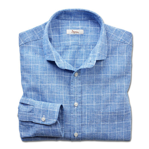 Ingram Linen Mix Business Shirt - Just the right mix of linen and cotton – ­ a pleasant climate yet always smart. Shirt with classic glen check.