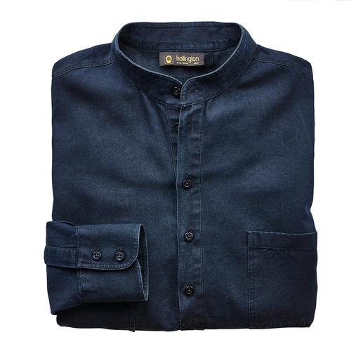 Hollington Nehru Denim Shirt - Typical: The stand-up collar. New: The fashionable denim look. The legendary Nehru shirt by Patrick Hollington.
