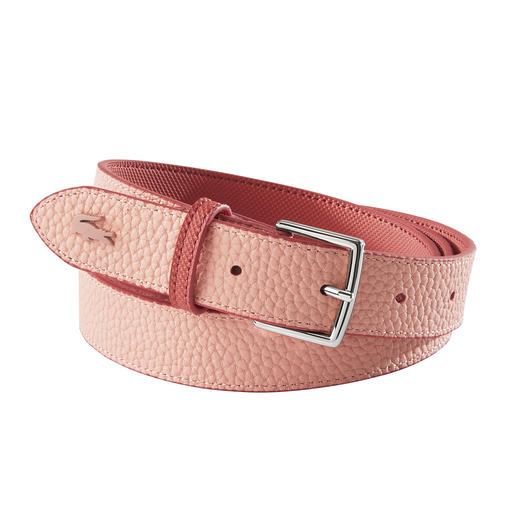 Lacoste Reversible Belt Two stylish colours. Two textures. The robust reversible belt made of PVC. By Lacoste.