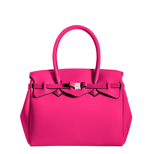Ultralight Bag, Fuchsia - Classic look, innovative material: This ultra-light handbag weighs only 380g (13.4 oz). By Save My Bag.