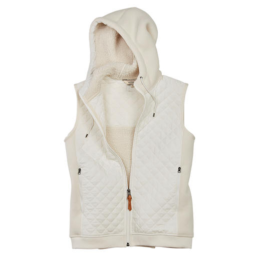 Aigle Teddy Fleece Quilted Waistcoat - Warm, windproof and fashionably enhances your jackets and coats. By Aigle.