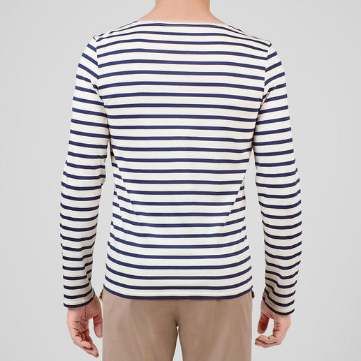 Long-sleeved Shirt, Ecru/Navy