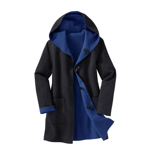 Alpaca Double Face Duffel Coat The classic duffel coat. But fashionably soft and lightweight. And even reversible.
