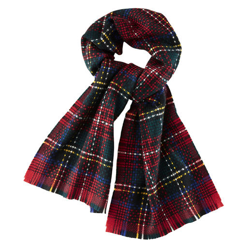 Johnstons Royal Stewart Cashmere Scarf - A classic. And yet stylishly up-to-date: the Royal Stewart Tartan, steeped in tradition. By Johnstons of Elgin.