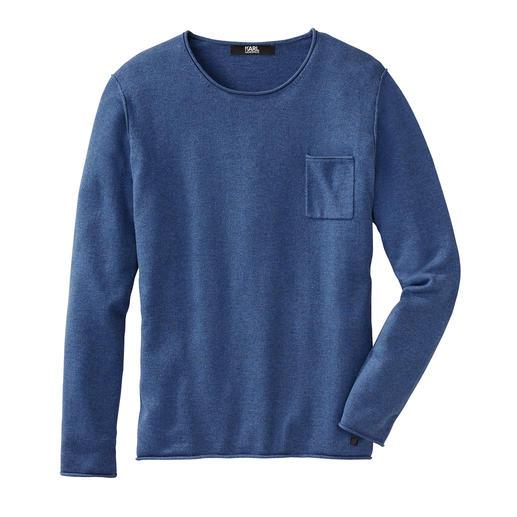Karl Lagerfeld Yak Long Sleeve Shirt Winter warmth: Karl Lagerfeld's long sleeve with rare yak wool. Slim cut. Casual details. Multi-coloured.