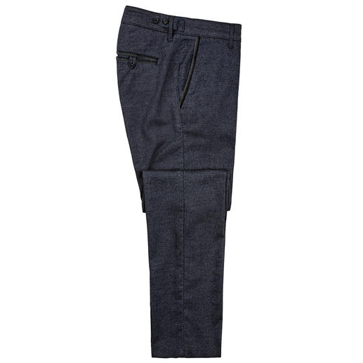 Karl Lagerfeld Denim Look Chino - The winter alternative for jeans: Slightly brushed chinos in denim look. Soft and comfortable.