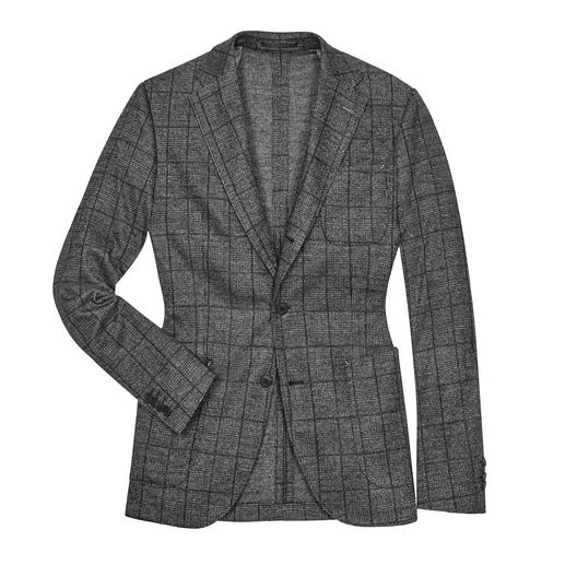 Barutti Glencheck Jersey Jacket Real business. But as comfortable as your favourite cardigan. By Barutti.