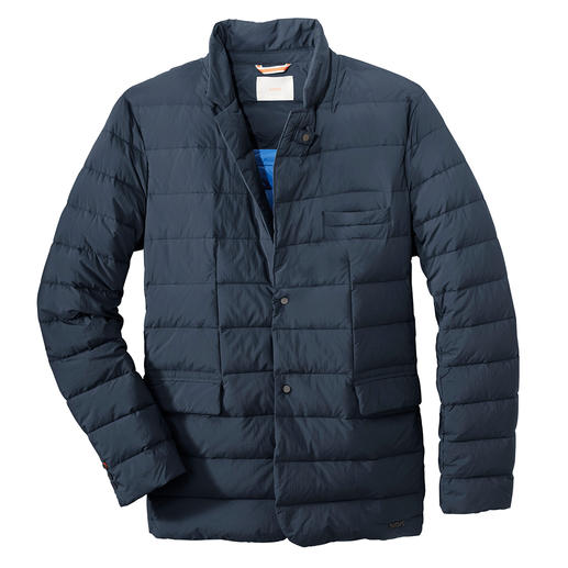 Swims lightweight down sports jacket This is how stylish a down jacket can be. Sports jacket cut. Lightweight down filling. Flat stitching. Swims.