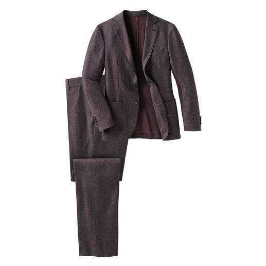 Reporter washable ­super-120 suit - Probably your easiest-care suit: made of super-120 virgin wool and still machine washable.