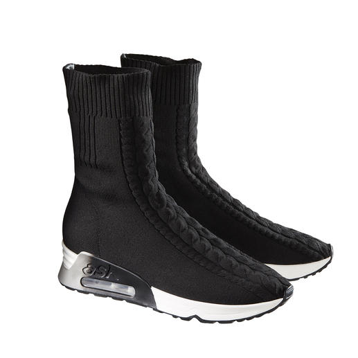 Ash Braided Knit Sneaker Boots 100% fashionable. 100% suited to winter. The braided knit sneaker boots by Ash.