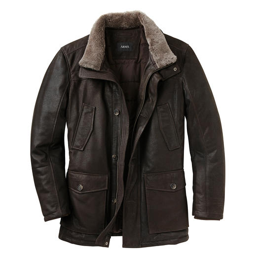 Arma Himalaya Goat Leather Jacket Extremely soft and as light as a second skin, but nevertheless very hard-wearing.   By Arma.