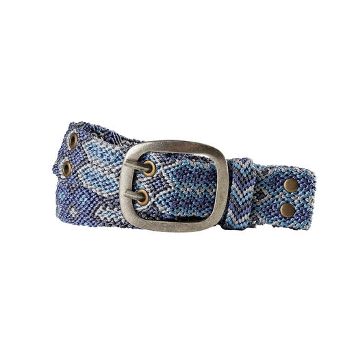 Likely the most authentic ethno belt: Hand-knotted in conformity with the knot writing method of the Incas. Likely the most authentic ethno belt: Hand-knotted in conformity with the knot writing method of the Incas.