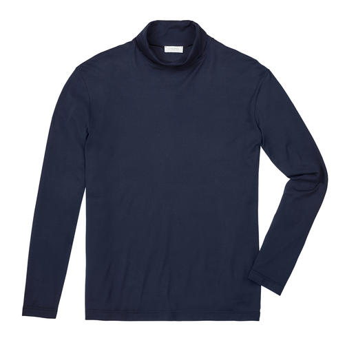 Sunspel Roll-Neck Top Made of exquisite Egyptian cotton. Made in England. By underwear specialist Sunspel.