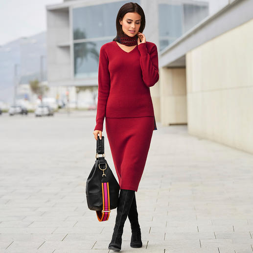 Carbery Ribbed V-Pullover or Knit Skirt On-trend all over knit, traditional made in Ireland. By Carbery in Clonakilty. Exclusive to Fashion Classics.