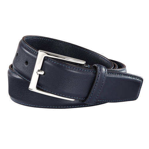 As valuable as the most luxurious belt. (Yet pleasantly affordable.) As valuable as the most luxurious belt. Finest Italian calf leather, masterly handcrafted in Italy.