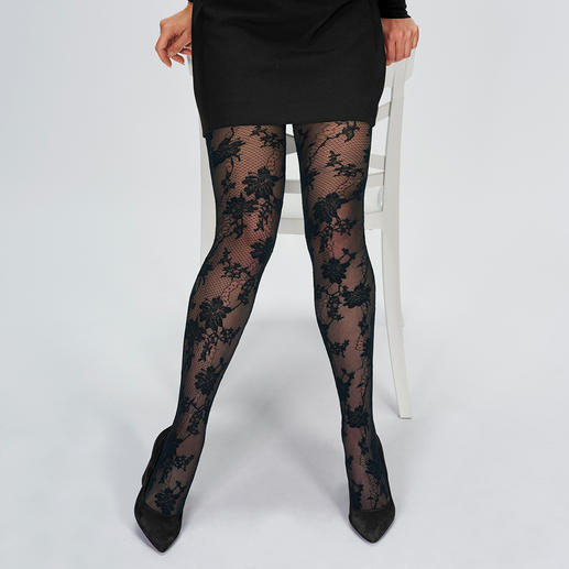 Oroblu Floral Mesh Tights Tights trend: Floral pattern + mesh. Made in Italy. By Oroblu. Top quality at a great price.