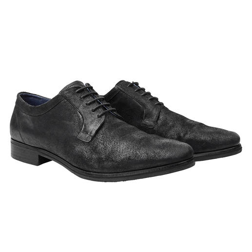 "More elegant than a sneaker. More casual than a business shoe. The ""broken"" suede leather derby shoes. More elegant than a sneaker. More casual than a business shoe. The ""broken"" suede leather derby shoes."