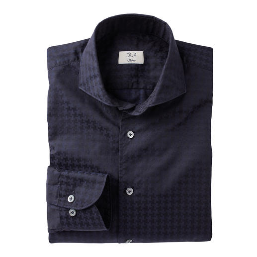 Dufour Modern Houndstooth Shirt Trendy large pattern, yet not too loud. The stylish version of the trendy XL size pattern.