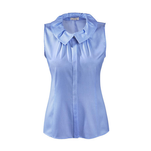 van Laack blouse van Laacks decorative collar is right on trend. The fine blouse made of mercerised cotton.