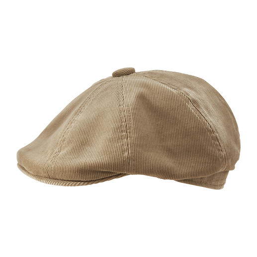 Kangol® 8-piece cord cap One of the few among stylish cord caps with a truly perfect fit. In the complex 8-part cut by Kangol®.