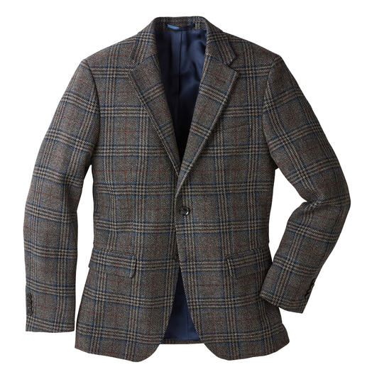 German Tweed® Tartan Jacket - Classic tartan pattern. Urban colours. Light, supple and soft fabric. Woven in Germany.