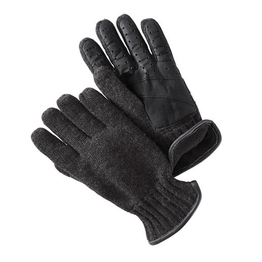 Leather Knitted Gloves - Warm and windproof, elegant and stretchy: Everything a good glove should be. By Otto Kessler.