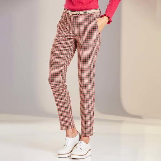 Seductive Check Trousers Blended Wool Probably your least complicated cloth trousers – now in modern Vichy check.