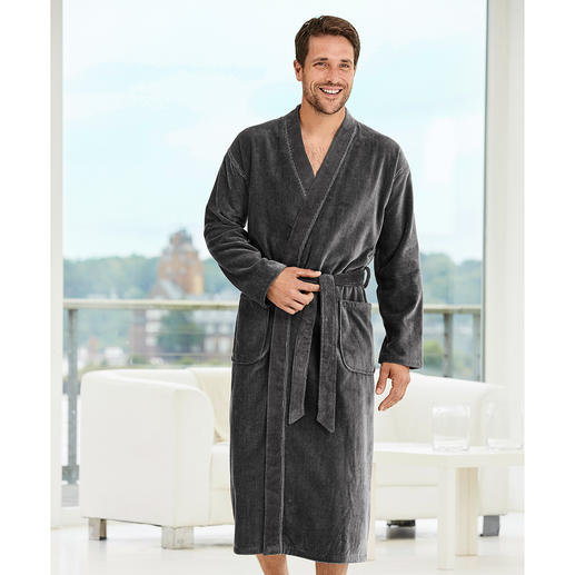 Carl Ross Gentleman's Bathrobe Masculine corduroy look instead of soft towelling. By leisurewear specialist Carl Ross.