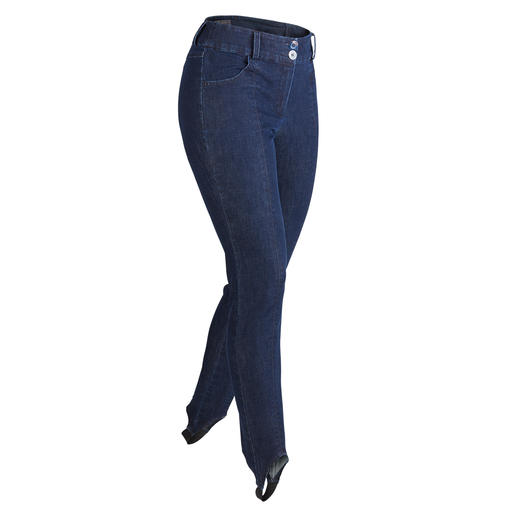 Denim Stirrup Trousers Favourite denim fabric – finally also made into stirrup trousers.