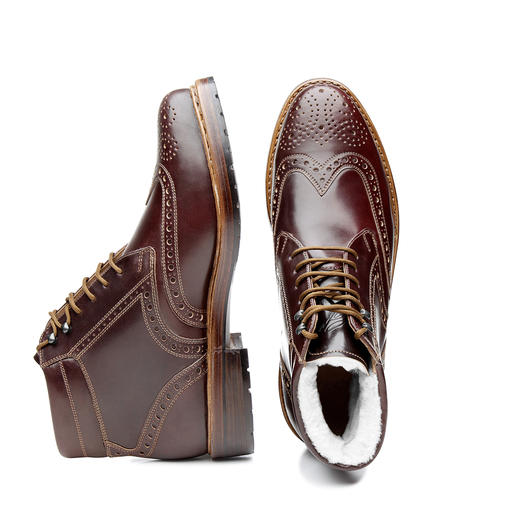 Dinkelacker Budapest Boots A masterpiece of Hungarian shoemaking art – welted from selected cordovan leather. From Heinrich Dinkelacker.