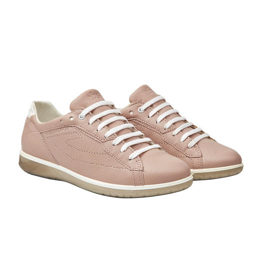 Always looks immaculate: These leather trainers can be washed in the machine. Always looks immaculate: These leather trainers can be washed in the machine. Made in France. By TBS.