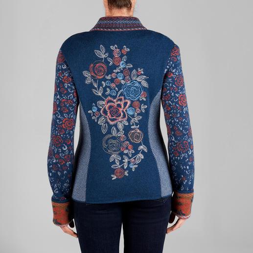 IVKO Jacquard Jacket Floral Blue