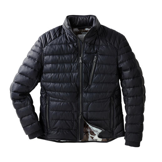 Heinz Bauer Manufakt Leather Down Jacket - The 670g (23.6 oz) light winter leather jacket by the German maker Heinz Bauer.