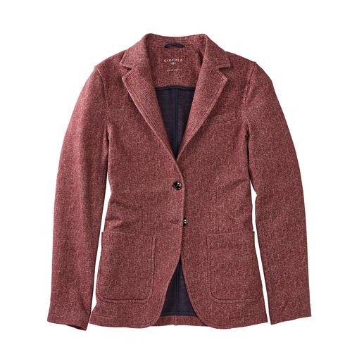 Circolo 1901 Herringbone Blazer As elegant as a blazer, as comfortable as a cardigan. Knitted jersey, classic finish. By Circolo 1901.