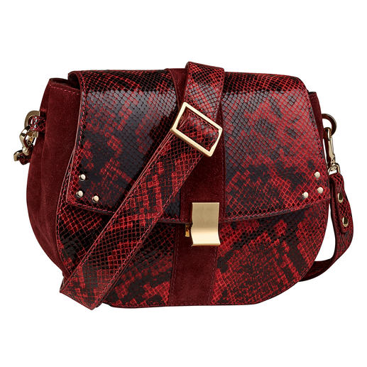 ADAX Berlin Grace Bag Colour: Red. Pattern: Reptile. Label: ADAX. A handbag can hardly be more fashionable.