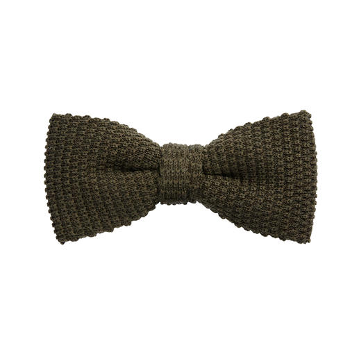 Blick Knitted Bow Tie Pure wool. Interesting texture. Voluminous and circular knitting. Tied by hand. By Blick.