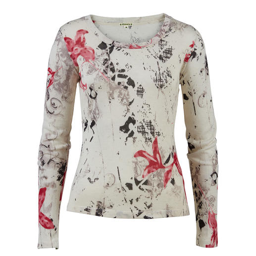 Pashma 30-gauge floral pullover Very few fashionable print pullovers are this luxurious (and yet affordable). By Pashma, India.