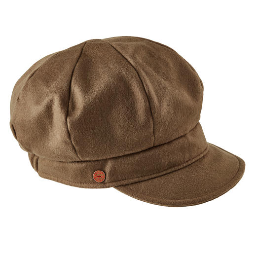 Mayser Cashmere Balloon Cap Very trendy – and in unusually premium quality: The balloon cap made of pure cashmere. By Mayser.
