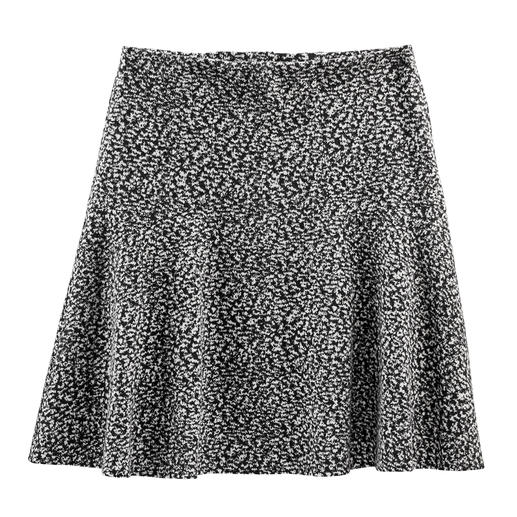 Cotton Jersey Swinging Skirt Tweed look but new lightweight fabric – soft cotton jersey. Perfect for the trendy swinging skirt cut.